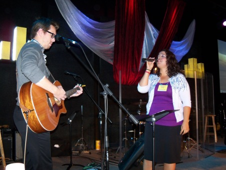 Valerie and Clay leading worship at HBH seminar in Albuquerque, NM