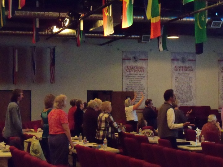 Attendees in worship