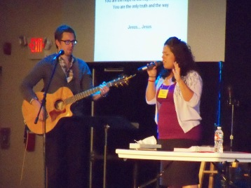 Clay and Valerie - the worship leaders