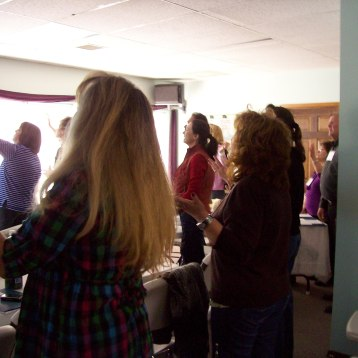 Worshipping the Lord!