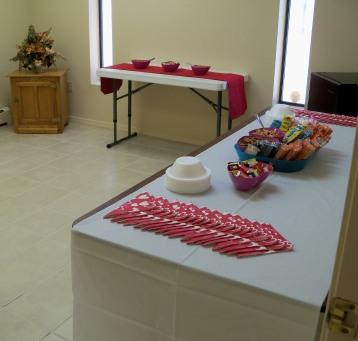Hospitality room for breaks