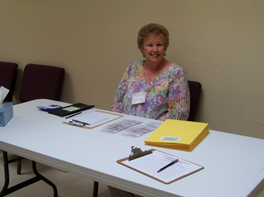 Gaile ready to register the women