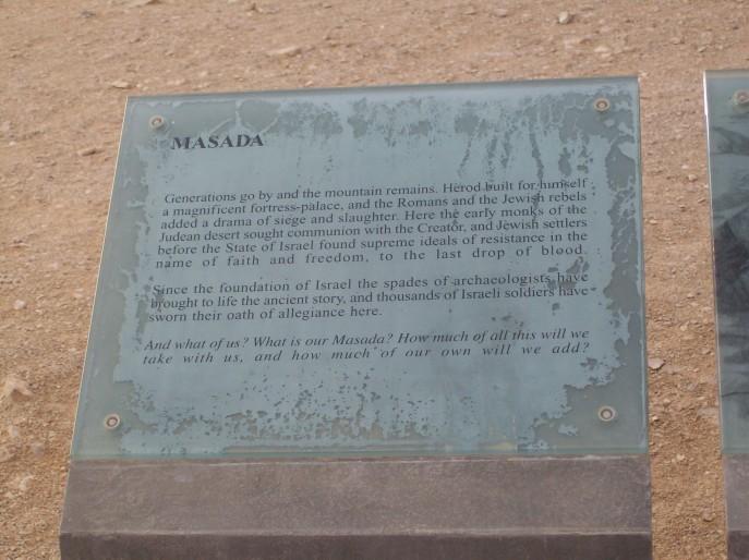 Sign about Masada