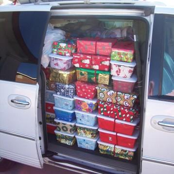 Side of loaded van