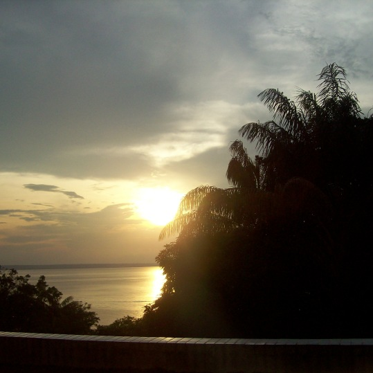 Breathtaking sunset in Manaus, Brazil