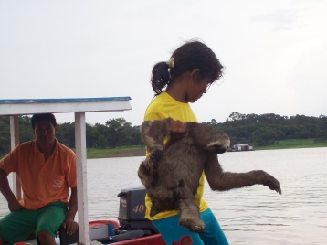 Girl and her sloth