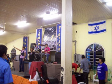 Worship team at small church