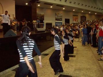 Dance team at large church