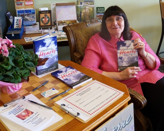 Kathy at The Branch, first book signing