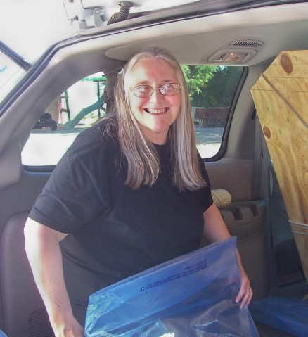 Happy Kathy... the van empty after only four hours!