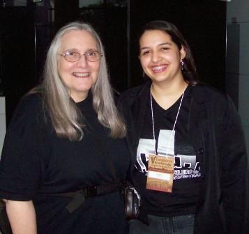 Kathy and her translator, Clarissa