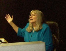 Kathy worshipping the Lord in Lubbock, TX