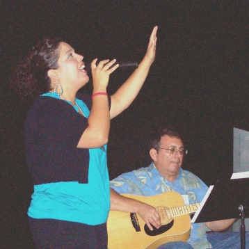 Valerie and Pastor Dick praising God